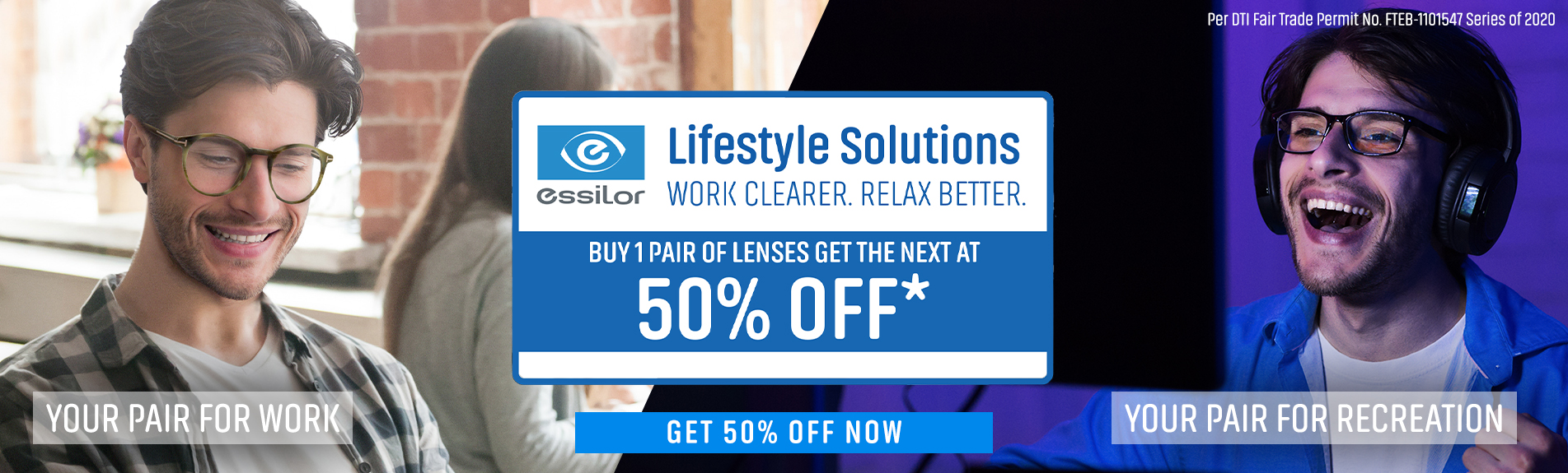 Get 50% Off Your Second Pair of Lenses